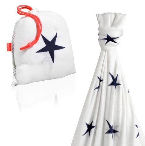Cuski Great Swandoodle - Bamboo Muslin Blanket MOON Stars ~ Sold Out!